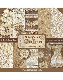 """Colección Old Lace (12""""x12"""") Stamperia SBBL32"""