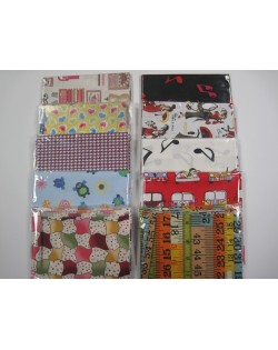 10 fat quarters 45 x 55 cm Marrones y neutros