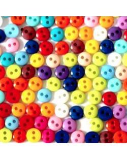 50 botones 6 mm. colores surtidos