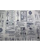 Tela costura vintage (25x110 cm.)