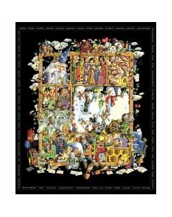 Tela postales navideñas (100x110 cm.)