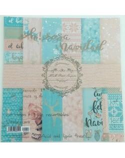 Stack Oh rosa navidad (colección 12 papeles 30,5 x 30,5 cm