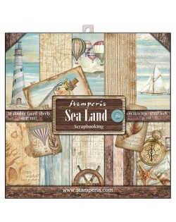 """Colección Sea Land (12""""x12"""") Stamperia SBBL37"""