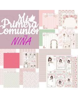 Colección 9 papeles 30x30 Comunión niña (Dayka 2018)