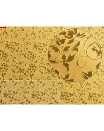 5 Papel foil flores color dorado
