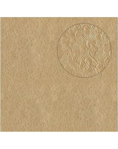 5 Papel arabesco foil cobre color beige