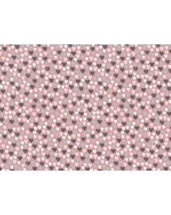 Tela colección Bailarina (corazones) 25x150cm.