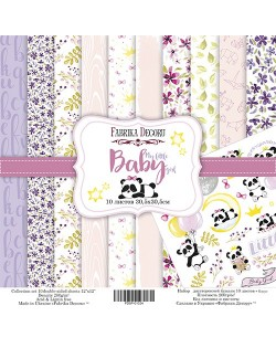 SET MY LITTLE BABY GIRL 10 PAPELES DOBLE CARA