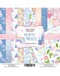 SET BELIEVE IN MIRACLE 10 PAPELES DOBLE CARA
