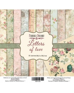 SET LETTERS OF LOVE 10 PAPELES DOBLE CARA