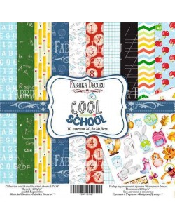SET COOL SCHOOL 10 PAPELES DOBLE CARA