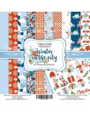 Set Winter in the city 10 PAPELES DOBLE CARA