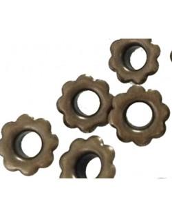 50 eyelets (ojales) flor bronce