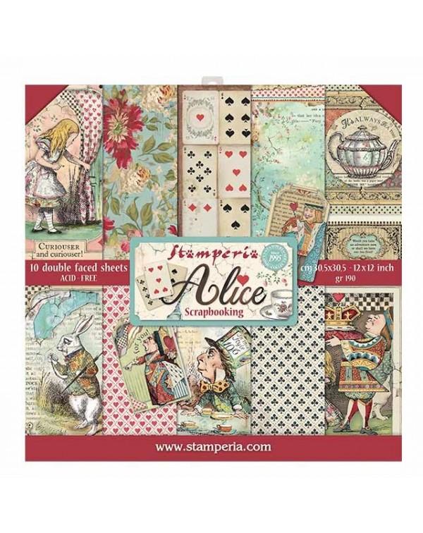 """Colección Alice 12x12"""" stamperia SBBL52"""