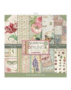 "Colección Spring Botanic 12x12"" stamperia SBBL50"