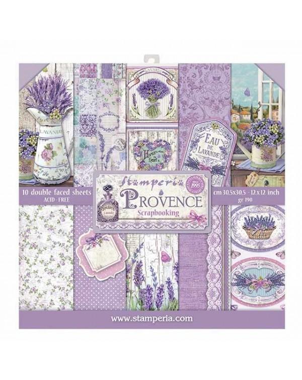 """Colección Provence 12x12"""" stamperia SBBL51"""
