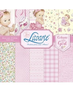 Coleccion litoarte niña (18 Papeles 30 x 30 cm)
