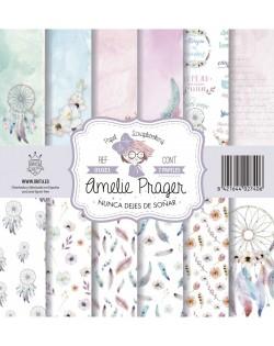Amelie Nunca dejes de soñar(SET 6 PAPELES + PORTADA)