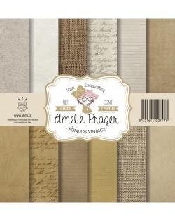 Amelie Fondos Vintage (SET 6 PAPELES + PORTADA)