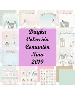 Colección 12 papeles Dayka Comunión Niña 2019