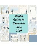 Colección 12 papeles Dayka Comunión Niño 2019