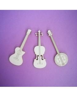 Troquelados instrumentos de cuerda