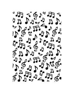 Carpeta embosing notas musicales