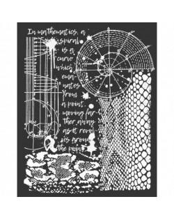 """Stencil Stamperia 20x25cm y 0.5mm de espesor """"Cosmos Pitón"""""""