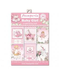 24 Tarjetas 11,4x16,5 cm. Baby Girl
