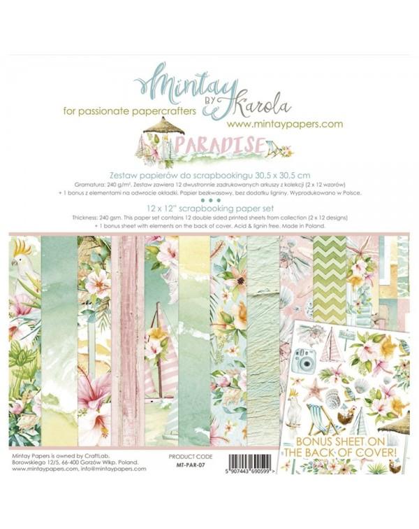 MINTAY BY KAROLA SET PAPEL 12x12'' - Paradise