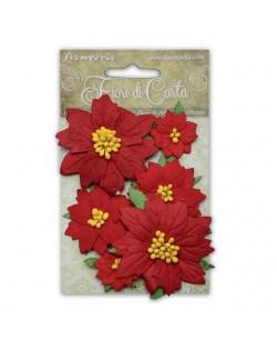 Flores de navidad rojas