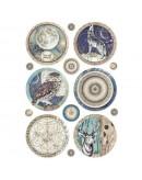 Papel arroz decorado colección cosmos by Cristina Radovan