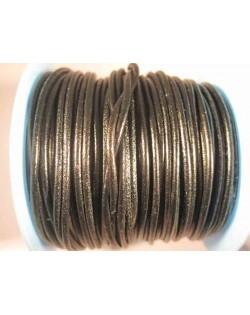 Cordon de cuero 2 mm negro