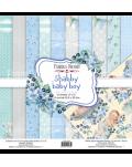 SET Shabby baby boy redesign 10 PAPELES DOBLE CARA