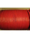 Cordon de cuero 2 mm rojo