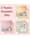 3 Papeles comunión niña Kashaky