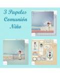 3 Papeles comunión niño Kashaky