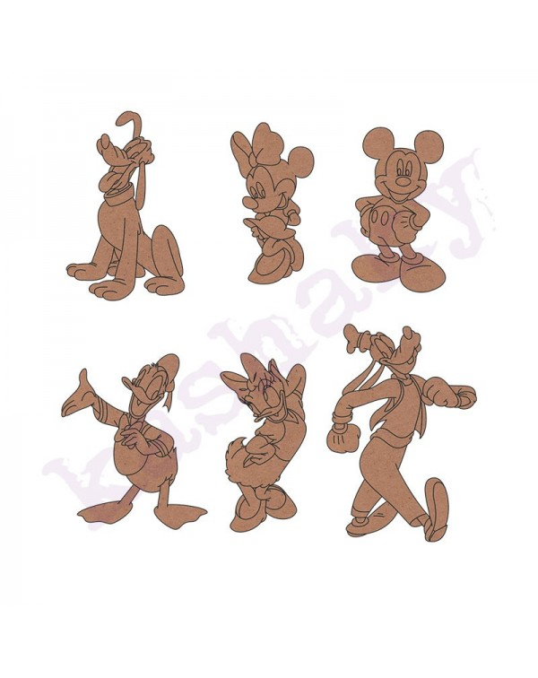6 Figuras Disney DM